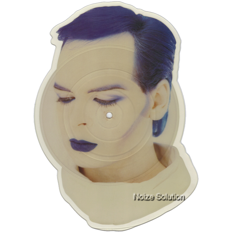 Gary Numan Berserker shaped vinyl Picture Disc Record Side 1 garynuman.