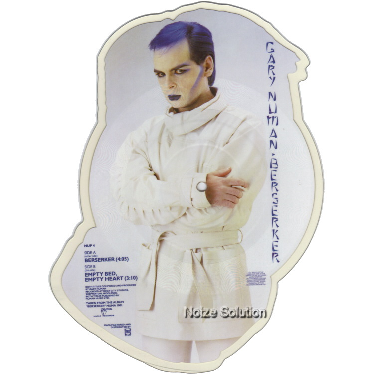 Gary Numan Berserker shaped vinyl Picture Disc Record Side 2 garynuman.
