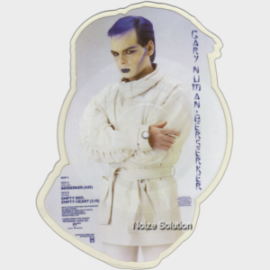 Gary Numan  - Berserker 7 inch shaped vinyl Picture Disc Record side 2.
