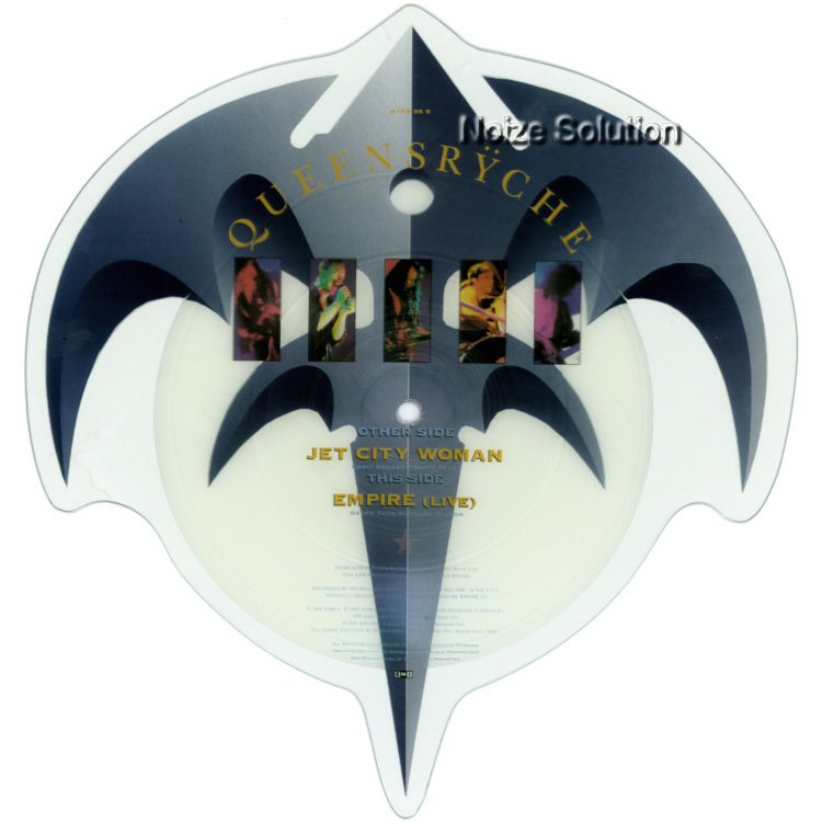 Queensryche - Jet City Woman vinyl Shaped Picture Disc Record Side 2 QueensrycheQueensryche.