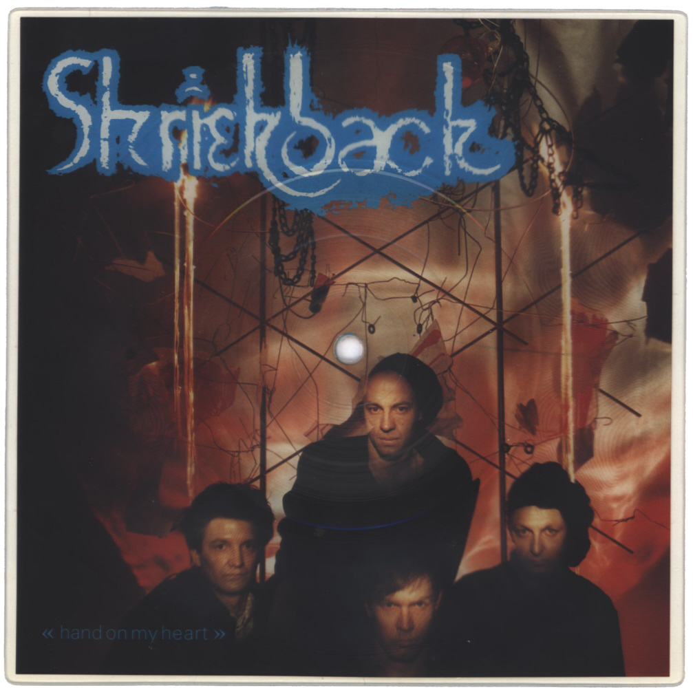 Shriekback Hand On My Heart shaped vinyl Picture Disc Record Side 1 ShriekbackShriekback.