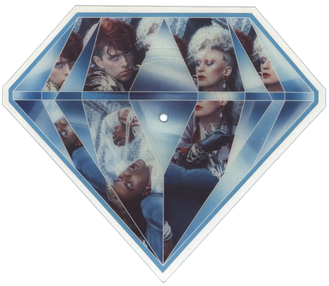 Thompson Twins Lay Your Hands On Me shaped vinyl Picture Disc Record Side 1 ThompsonTwins.