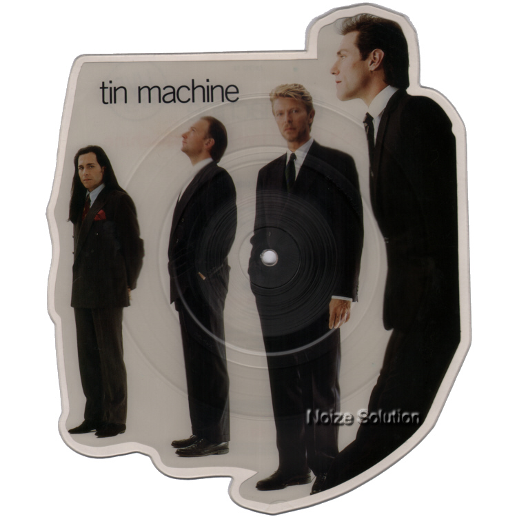 Tin Machine David Bowie Maggie's Farm Live Shaped Vinyl Picture Disc Single side 1.