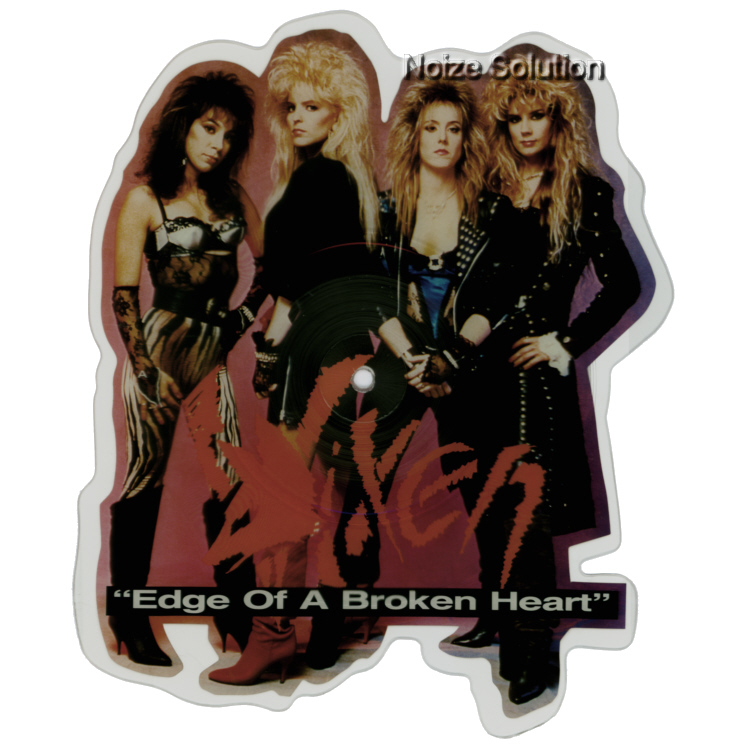 Vixen - Edge Of A Broken Heart, shaped vinyl Picture Disc record side 1.