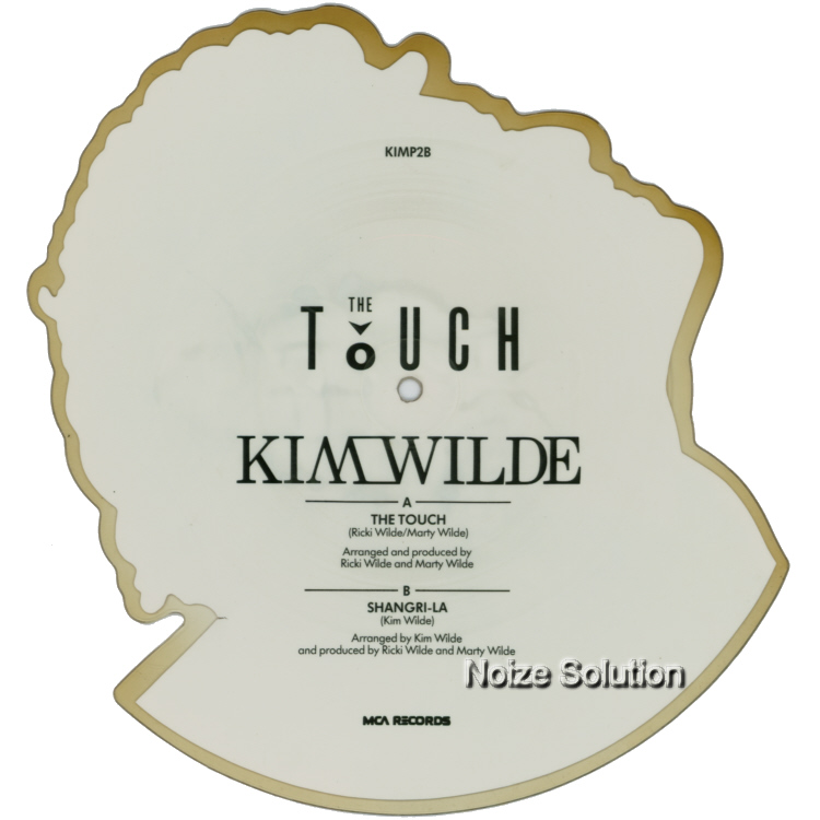 Kim Wilde - The Touch - Shaped Vinyl Picture Disc Record side 2