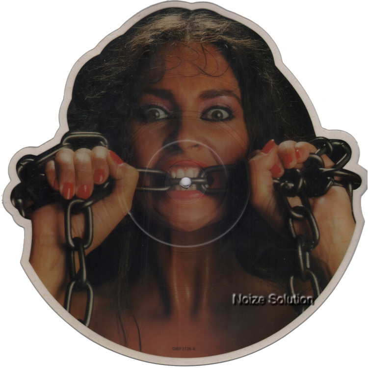 Waysted - Women In Chains shaped vinyl Picture Disc Record Side 1.