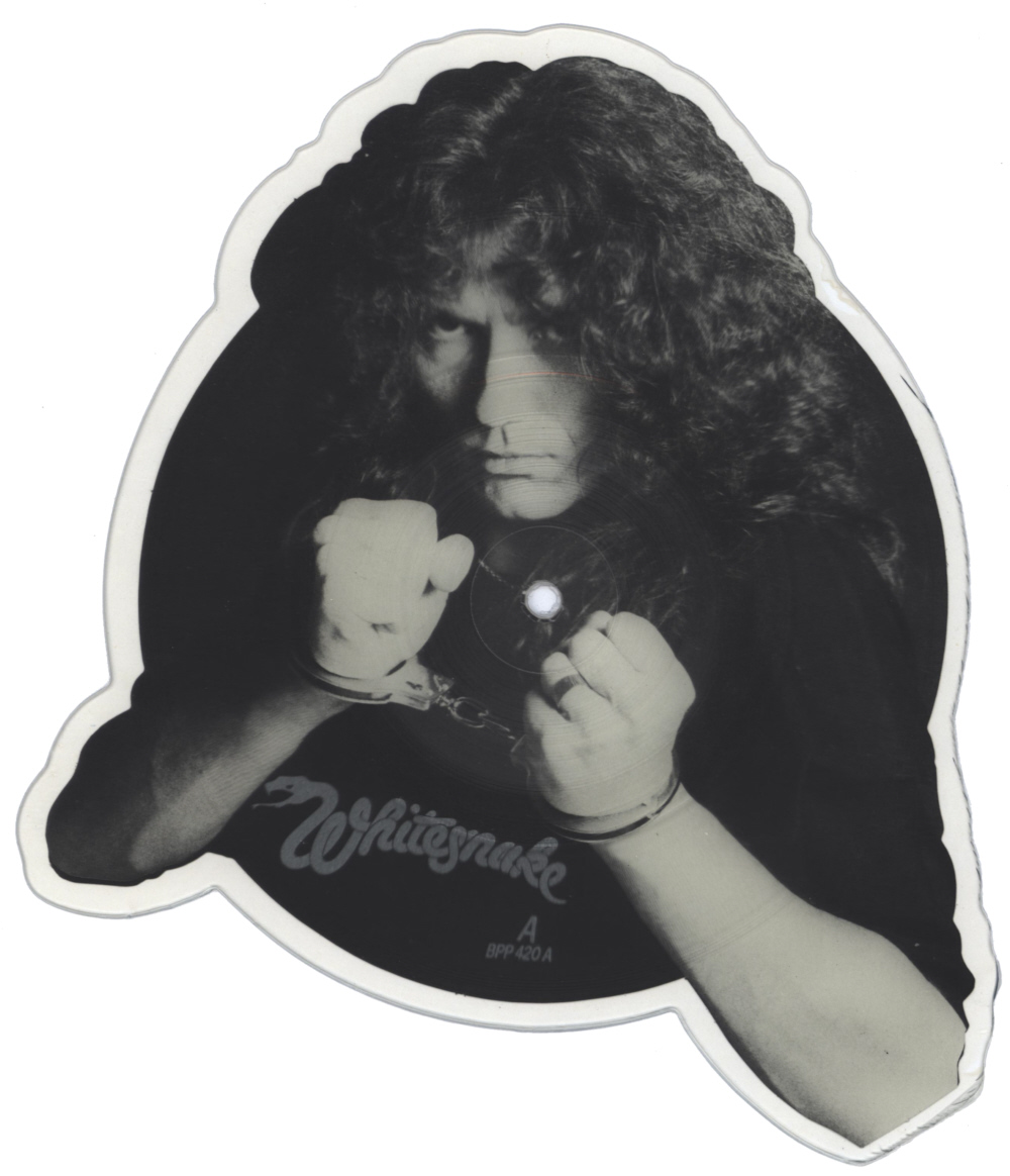Whitesnake Guilty Of Love shaped vinyl Picture Disc Record Side 1 WhitesnakeWhitesnake.